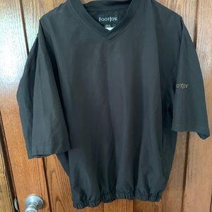 Foot joy short sleeve golf pullover black medium